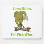 El pescado gana a veces Mousepad Alfombrilla De Raton
