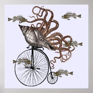 El pescado necesita una bicicleta póster