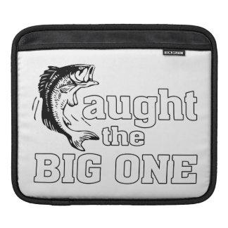 El pescador cogió el grande funda para iPads