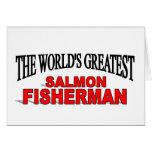 El pescador de color salmón más grande del mundo felicitaciones