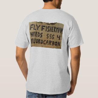 ¡El pescador de la mosca necesita el fluocarbono Poleras