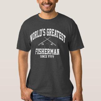 El pescador más grande del mundo (año adaptable) remera