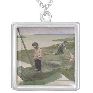 El pescador pobre, 1881 collar plateado
