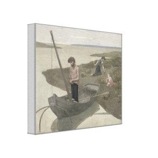 El pescador pobre de Puvis de Chavannes Impresiones En Lona Estiradas