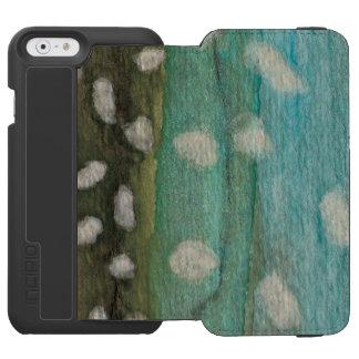 El pescar con caña para el carbón de leña de funda billetera para iPhone 6 watson