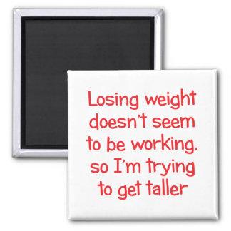 El peso perdidoso no parece trabajar imán cuadrado
