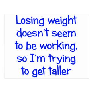 El peso perdidoso no parece trabajar postales