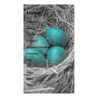 El petirrojo Eggs Grunge Tarjetas De Visita