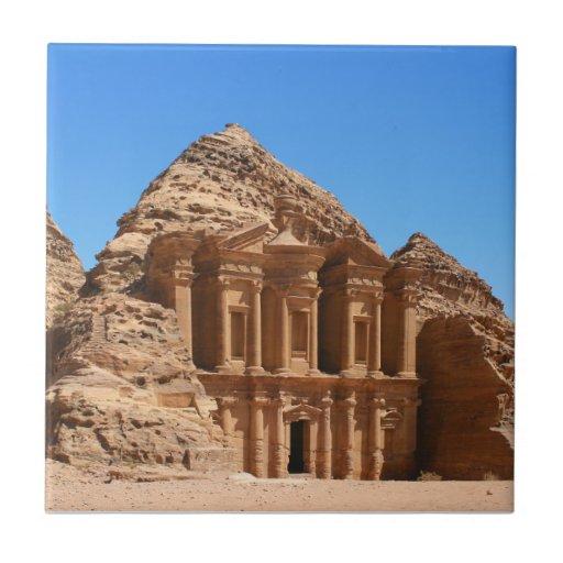El Petra Jordania del monasterio Azulejos