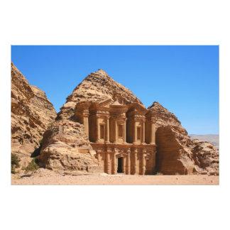 El Petra Jordania del monasterio Fotografía