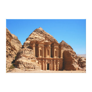 El Petra Jordania del monasterio Impresión En Lienzo Estirada