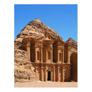 El Petra Jordania del monasterio Postal