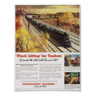 El petrolero del ferrocarril de Pennsylvania entre Impresiones