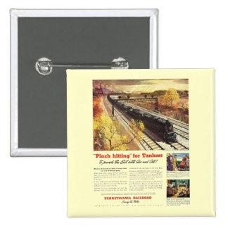 El petrolero del ferrocarril de Pennsylvania entre Pins