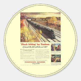 El petrolero del ferrocarril de Pennsylvania Pegatinas Redondas