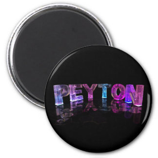 El Peyton conocido en 3D se enciende (la fotografí Imanes De Nevera