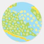 El pez papagayo escala el modelo pegatinas redondas