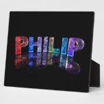 El Philip conocido en 3D se enciende (la fotografí Placa