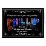 El Phillip conocido en 3D se enciende (la fotograf Felicitación