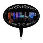 El Phillip conocido - nombre en las luces (fotogra Figuras Para Tartas