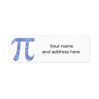 El pi circunda etiquetas del remite etiqueta de remitente