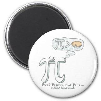 El pi es de hecho irracional imán redondo 5 cm