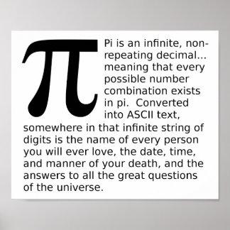El pi infinito contesta al poster divertido