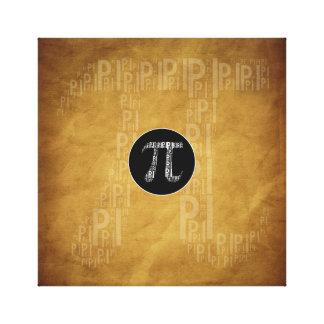 El pi mecanografió la lona de la matemáticas del impresion en lona