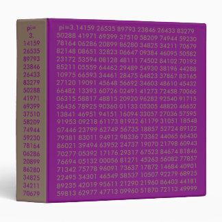 el pi numera, amor de la matemáticas, carpeta de