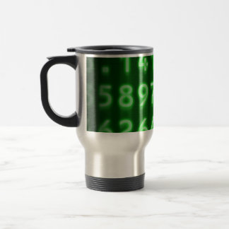 El pi numera la taza