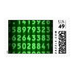 El pi numera sellos