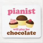 El pianista jugará para el chocolate alfombrilla de ratones
