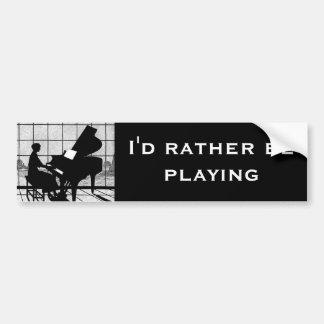 El pianista pegatina para auto