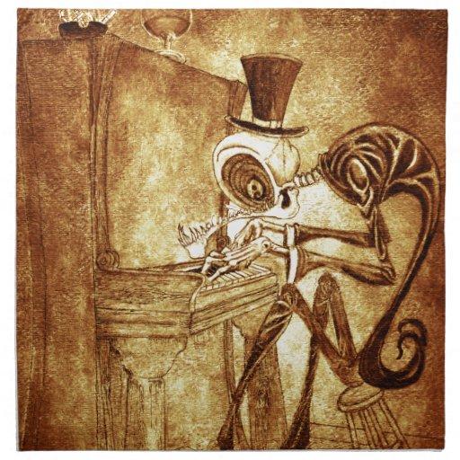 el pianista servilleta imprimida