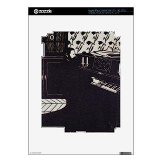 El piano, 1914 (grabar en madera) pegatinas skins para iPad 3