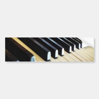 El piano cierra a la pegatina para el parachoques  pegatina para auto