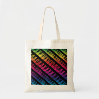 El piano cierra el arco iris del color bolsas de mano
