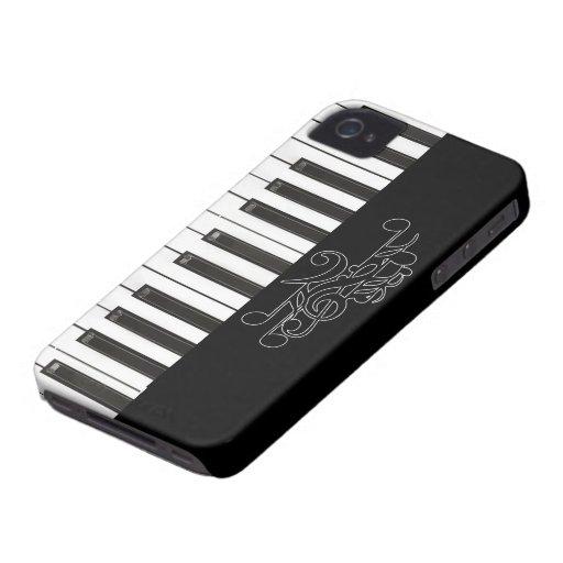 El piano cierra el caso del iPhone 4/4S de la iden Case-Mate iPhone 4 Cárcasas