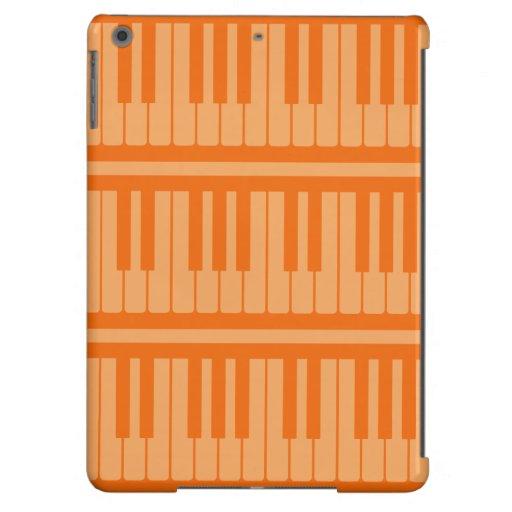 El piano cierra el modelo anaranjado funda para iPad air