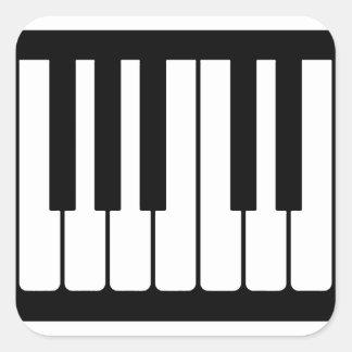 El piano cierra el modelo blanco y negro pegatina cuadrada