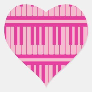 El piano cierra el modelo magenta rosado pegatina corazon personalizadas