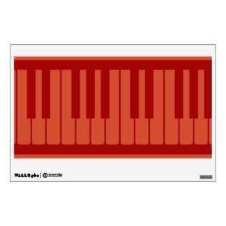 El piano cierra el modelo rojo vinilo