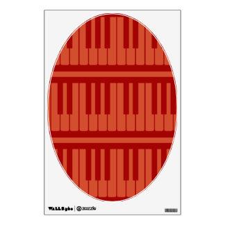 El piano cierra el modelo rojo vinilo adhesivo