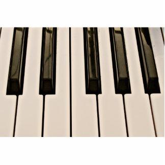 el piano cierra el teclado eléctrico de la aparien escultura fotografica