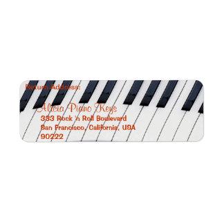 El PIANO CIERRA etiquetas del remite de los Etiquetas De Remite