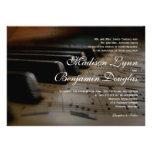 El piano cierra invitaciones del boda de la partit invitacion personalizada