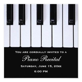 """El piano cierra invitaciones del decreto del piano invitación 5.25"""" x 5.25"""""""