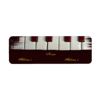 El piano cierra la etiqueta de Avery Etiqueta De Remite