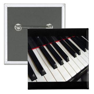 El piano cierra la fotografía pin cuadrada 5 cm