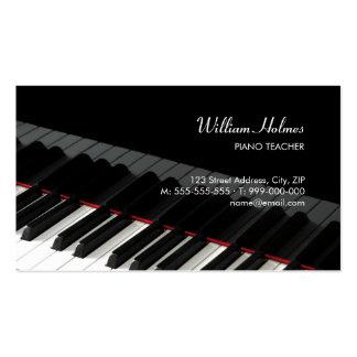 El piano cierra la tarjeta de la industria musical tarjeta de visita